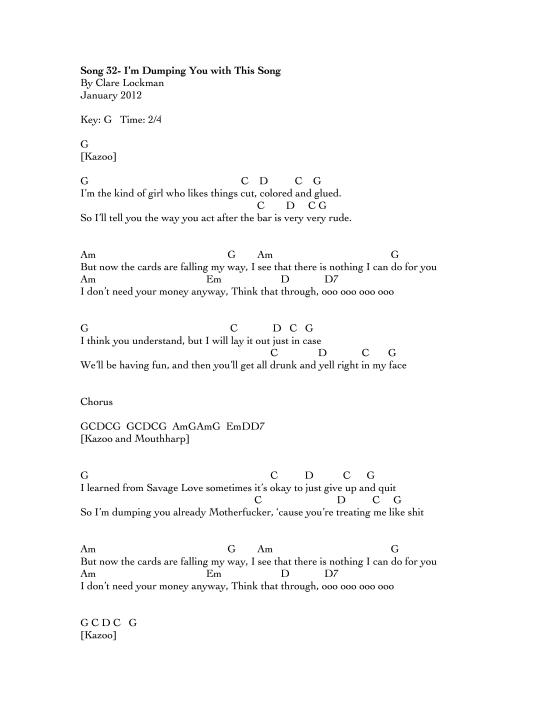 Enchanting Rude Chords Pattern - Guitar Ukulele Piano music Chords ...